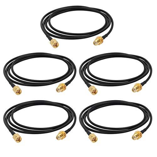 5 piezas RG174 cable coaxial extensión de antena conector de enchufe SMA 1M LANG de