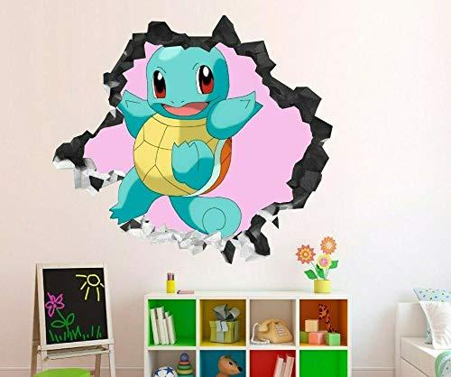 Pegatinas de pared Elf puede soñar Jenny turtle calcomanía de pared para niños decoración aplastada 3d calcomanía arte vinilo