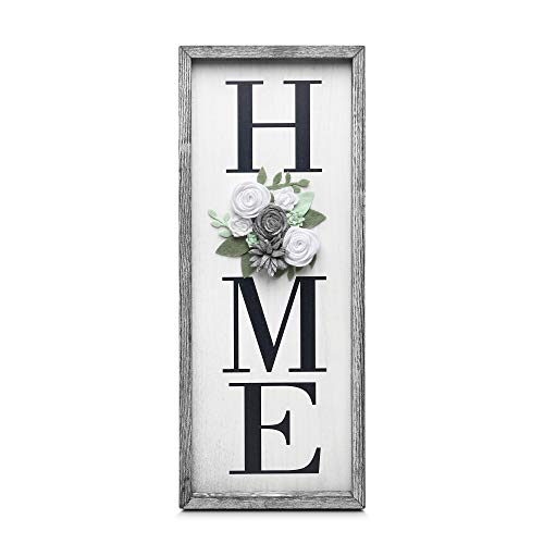 GBtroo Vertical Wooden Signs for Home Decor Farmhouse Vertical Wood Framed Sign for Home Decor,...