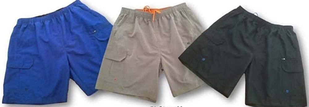 Big Mens Sizes Cargo Swim Wear with Quick Dry up to Size 8X