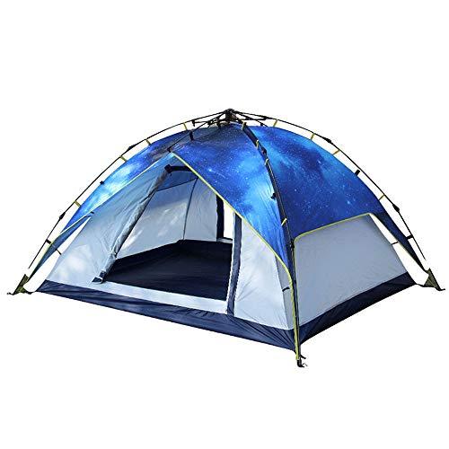 CCMMUU Kuppelzelte Automatisches Doppel-3-4-Sterne-Campingzelt im Freien Faltzelt (Farbe : Blau, größe : 215 * 215 * 145cm)
