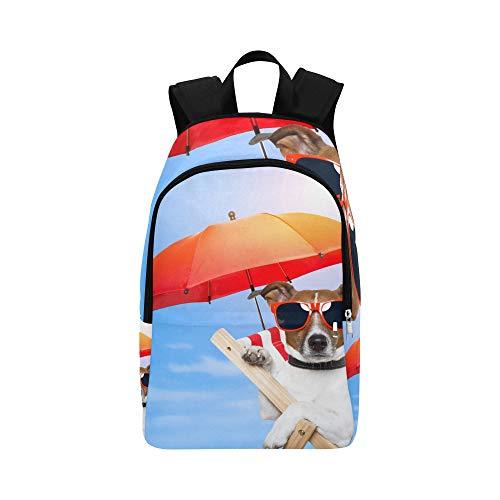 WJJSXKA Bag for Hiking Pack Sunglass Cool Dog Animal Durable Water Resistant Classic Travel Bookbag Kids Bag School Mens Casual Messenger Bag Daypacks for Kids