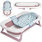 faltbare Babywanne mit 50 Litern Volumen von BEARTOP | inkl. Badewanneneinsatz Baby | ergonomisch & kompakt | stabiles PP & TPE Plastik | platzsparend | Zufriedenheitsgarantie (3 Jahre)*