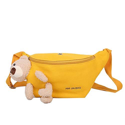 ARMAC Bolso de pecho de oso,Bolso de mensajero de lona portátil de bolsillo de hombro