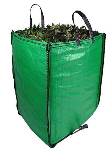 Gartenabfallsäcke, 272 Liter, Premium-Qualität, Industriegewebe und Griffe, robuste Gartenabfallsäcke (1 Beutel)