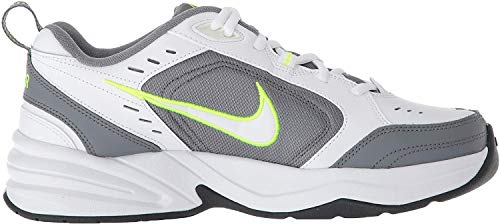 Nike Nike Herren Air Monarch IV Gymnastikschuhe, Weiß (White/White/Cool Grey/Volt/Anthracite 100), 43 EU