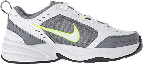 Nike Air Monarch IV, Scarpe da Ginnastica Uomo, Bianco (White/White/Cool Grey/Volt/Anthracite 100), 45 EU