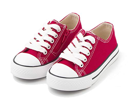TEX - Zapatillas De Lona Unisex (Tallas 25 A 30), Rojo, 27 EU