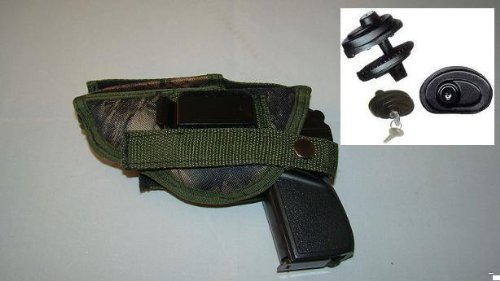 New Camo Gun Holster Makarov 380, Hunting, Pistol,law Enforcement, Side ARM 306c,comes with Free Trigger Lock ,