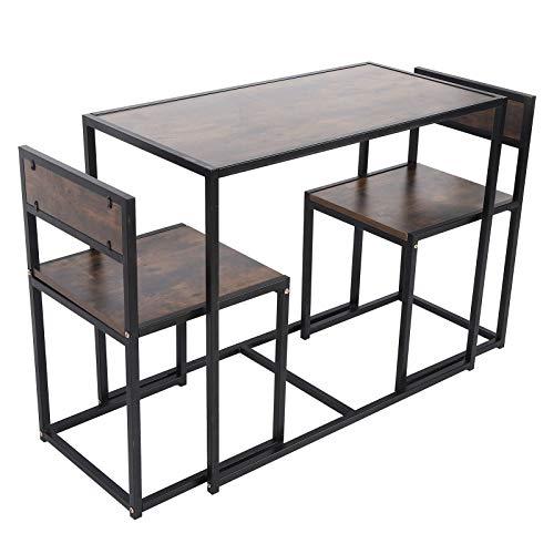 Tischset Esstisch Starkes Küchenzubehör Wohnmöbel Nachahmung Holzmaserung für kleine Räume Wohnzimmer Küche Haus mit Stühlen Set