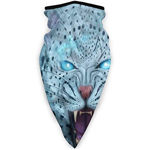 Traveler Halswarmer ademend gezichtsmasker winddicht Snow Leopard voor sport in de vrije natuur