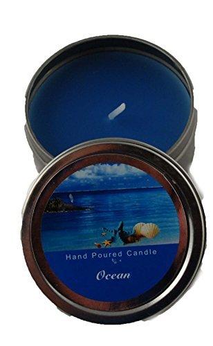 Organza-Shop Dosenkerze 62 x 30 mm in blau - Duftkerze Ocean