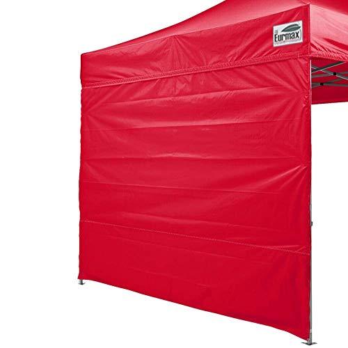 Eurmax Basic 5x5 Pop up Canopy Tent Gazebo W/4 Zipper Side Walls & Carry Bag, Blue