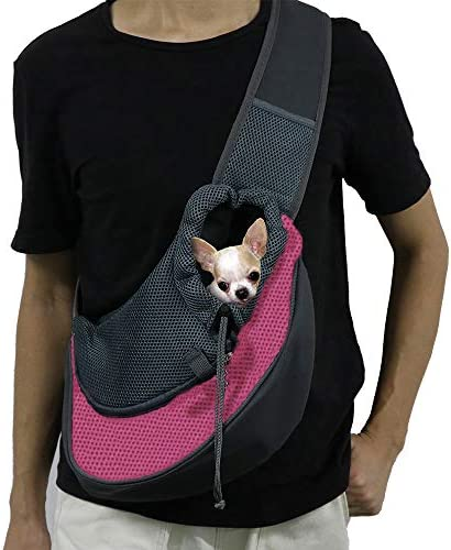 IFELISS Hands Free Puppy Carrier for Small Dogs Breathable Mesh Travel Safe Puppy Sling Adjustable product image