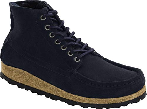 Birkenstock Marton Shearling Navy, Suede Leather Blu 43