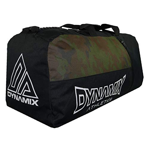 Dynamix Athletics 2-in-1 XL Gear Bag Division Black/Camo - Large Training Bag Gym Bag for Fitness & Martial Arts - Hybrid Bag Can also be Used as a Backpack