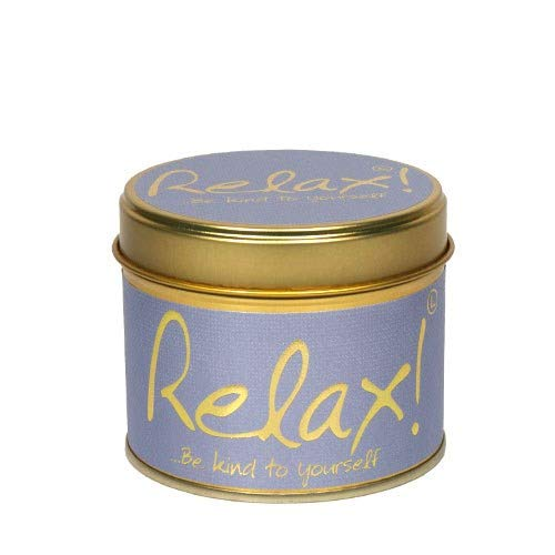 Lily Flame Relax Scented Candle Tin