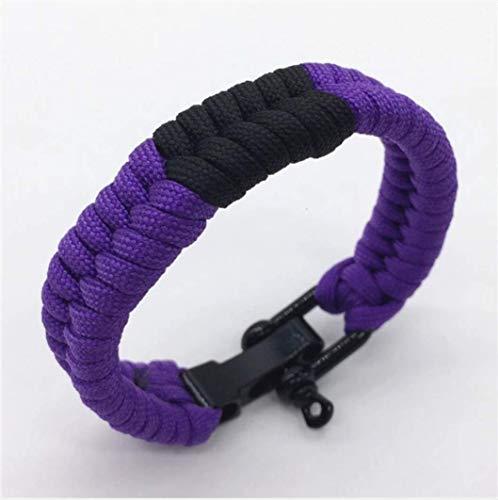 OSS/BJJ Combat Sports - Brazilian Jiu Jitsu Ranked Bracelet - BJJ Wristband - Jiu Jitsu Bracelet - Selection of Colours (Purple, 24)