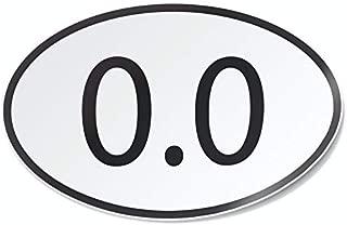 Nudge Printing 0.0 Miles Ran Marathon Lazy Joke Gift Vinyl Car Decal Sticker Bumper Window Sticker