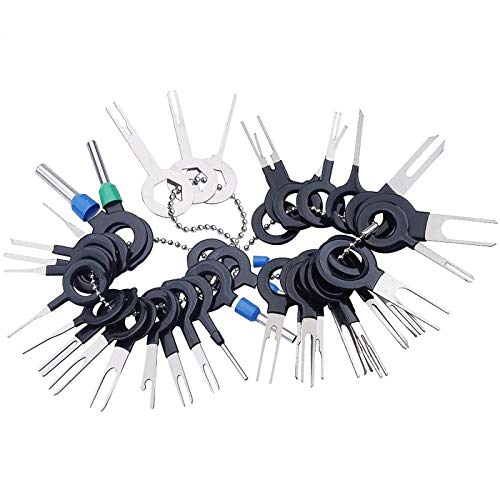 Terminal Removal Tool Kit 39Pcs for Car Connector and Other Household Devices, Wire Connector Terminal Pin Extractors, Crimp Connector Pin &Wire Harness Terminal Extractor, Back Needle Removal Tool