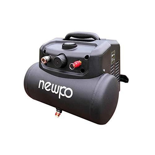 newpo Druckluftkompressor | 6 l | ölfrei | Druckluft Pressluft Pressluftkompressor Kompressor
