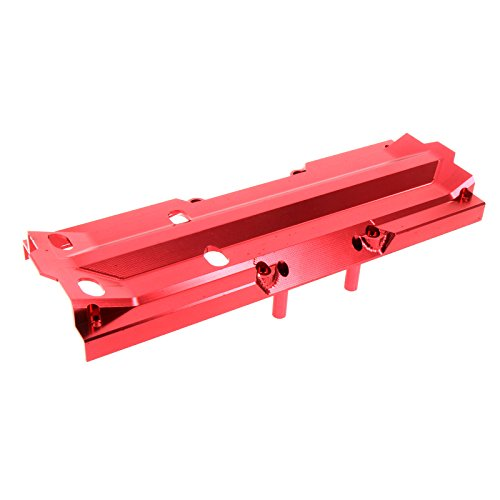 Atomik Alloy Center Skid Plate | Replacment for X-Maxx Alloy Center Skid Plate Part 7745 | Red