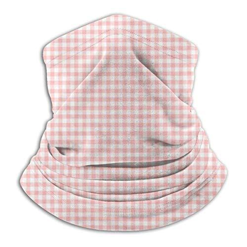 Rosa Vichy Gamassen voor hals en gamas, warm, winddicht, stofmasker, gezichtskleding, uv-masker balaclava, sjaal voor outdoor-sport