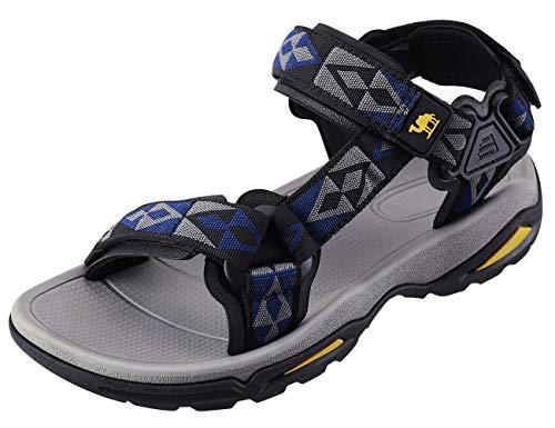 CAMEL CROWN Unisex Sandals Verstellbare Klettertrittsandalen Athletic Fisherman Hiking, Blau, Gr.- 44 EU/9 UK