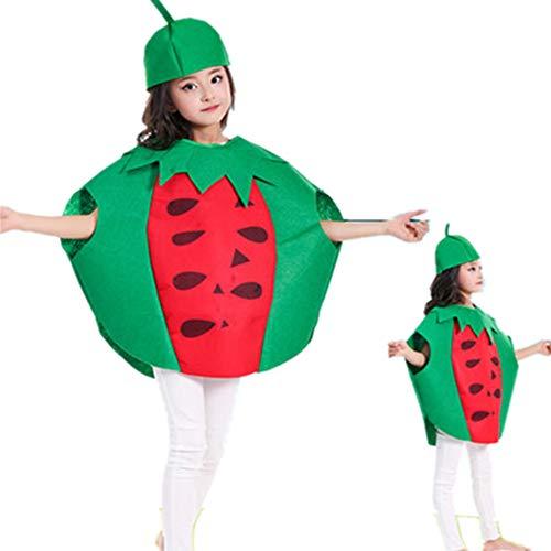Markcur Disfraz de Halloween, para niños, de frutas, Cospaly, protección del medio ambiente, disfraz de carnaval