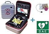 Life-POINT Pro AED Défibrillateur semi-automatique – Plaques adultes et enfants incluses et panneau DAE