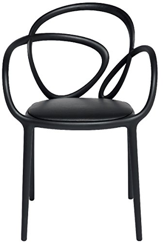 QEEBOO tuinstoel, kunststof, 52 x 56 x 84 cm Modern design 52x56x84 cm zwart.