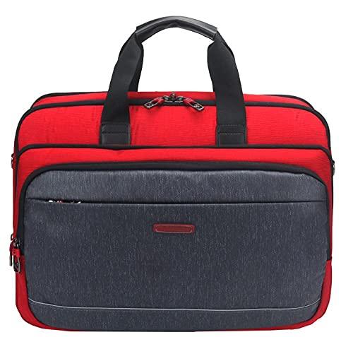 DDXJKL zaino Nuova borsa per laptop borsa da lavoro a tracolla messenger da uomo di grande capacità-rosso_18 pollici