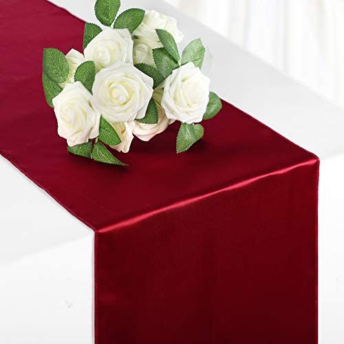 Syntus Satin Table Runner 3 Pack 12 x 108 inch Bright Silk and Smooth Fabric for Wedding Birthday product image