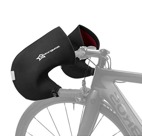 ROCKBROS Lenkerstulpen Lenker Handschuhe für Fahrrad Motorrad Roller Scooter Gefüttert Winddicht Wasserabweisend Reflektierend