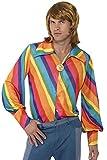Smiffys-35384M Camisa con Colores Arco Iris de los 70, M-Tamaño 38'-40' (Smiffy'S 35384M)