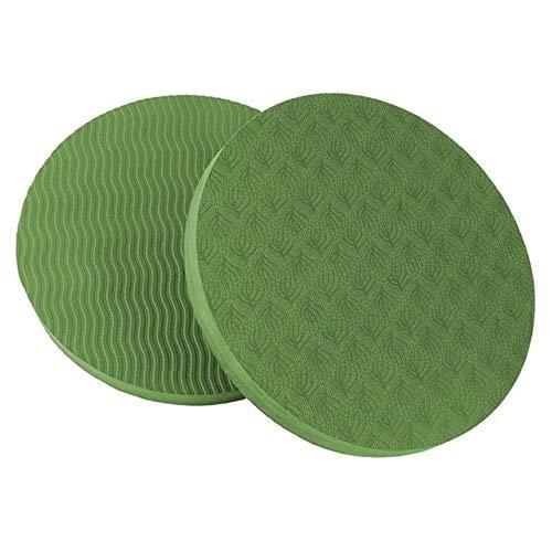 Colchonetas de Yoga E90 Ronda Soporte Yoga Cojín Protección Equilibrio, Diámetro: 17,5 cm (púrpura) (Color : Green)