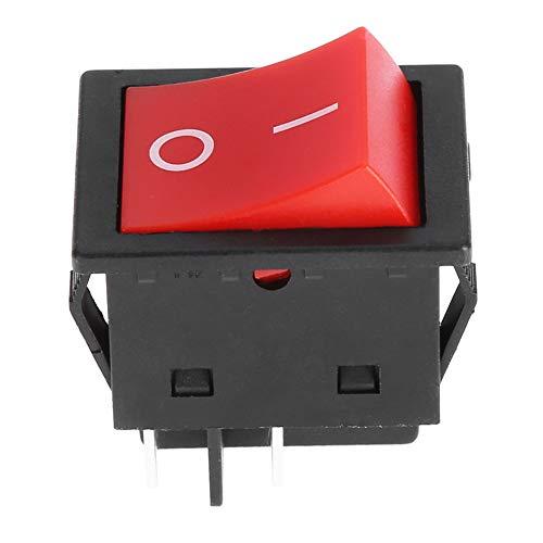 Interruptor basculante 30A, interruptor basculante fácil de controlar interruptor tipo barco a prueba de polvo larga vida útil para barco para coche(PC 1)