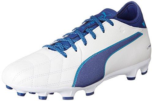 Puma Evotouch 3 LTH AG, Botas de fútbol para Hombre, Blanco White-True Blue-Blue Danube 01, 42 EU