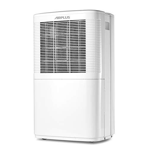 AIRPLUS 35 Pint Dehumidifier 3000 Sq. Ft., Dehumidifiers for Home Bedroom Closet, Continuous Drainage & Auto Shutoff, Multifunctional Dehumidifier for Basement