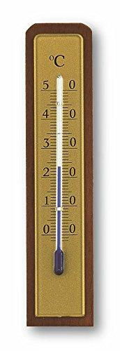 TFA Dostmann Analoges Innenthermometer, aus Nussbaum, hohe Genauigkeit