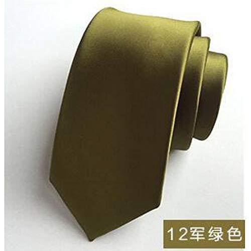 DYDONGWL halsbanden, effen kleur band mannelijke versie 6cm kleine smalle versie van de formele zakelijke bruiloft halsbanden rood blauw zwart zilver band
