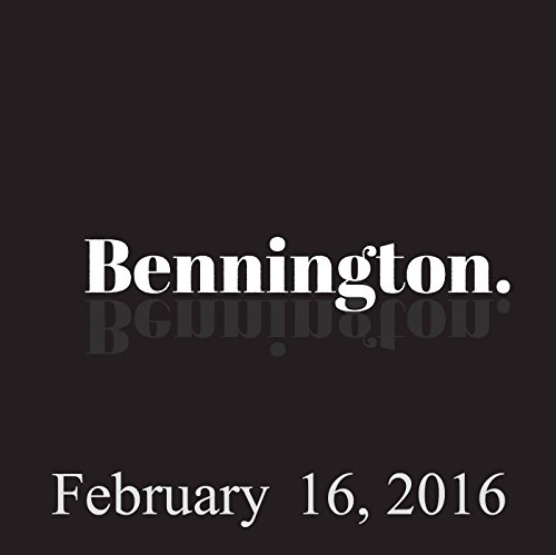 Bennington, February 16, 2016 audiobook cover art