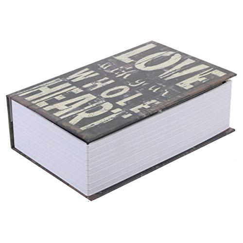 Cabilock Buchsafe Buchtresor Buch Hidden Diversion Sichtbarkeit Kreativ Geldkassette Geldversteck mit Schlüssel Münzschmuck Dokumente Wertsachen