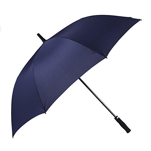 Bolero Ombrello da Pioggia Lungo Golf Antivento, Apertura Automatica per Permetterne L'Uso con Una Sola Mano, Tessuto Pongee Unito, Grandi Dimensioni