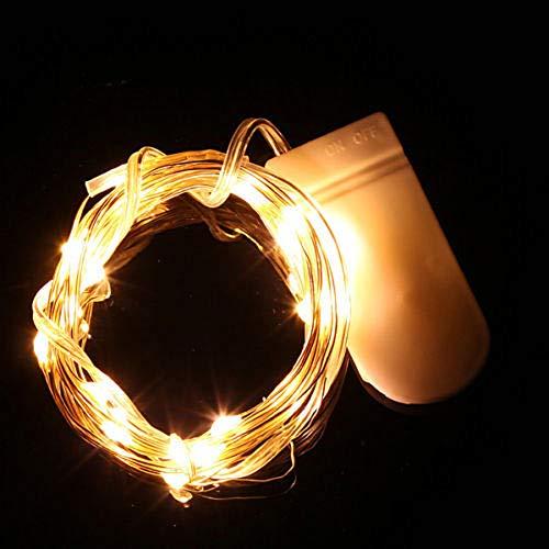 LEEDY Special - Guirnalda de 20 luces LED, funciona con pilas, guirnalda, decoración, cortina de luces para Navidad, hogar, ventana, boda, cumpleaños, fiesta, recámara, sala de estar, patio, 2 m