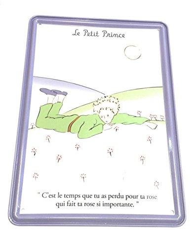 Editions Clouet, carte métal murale le petit prince paquerettes