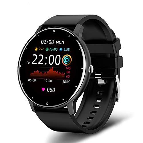 Smartwatch Pulsera Inteligente,Reloj Deportivo Impermeable IP67 Pantalla Completa Táctil Monitores de Actividad con Pulsómetro y...