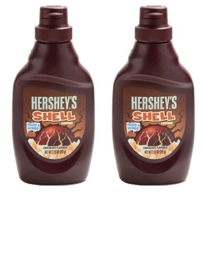【まとめ買い】ハーシー シェルトッピングチョコレート 205g × 2個(冷たいアイスクリームや果物等にかけると、パリパリに固まるチョコレートです)