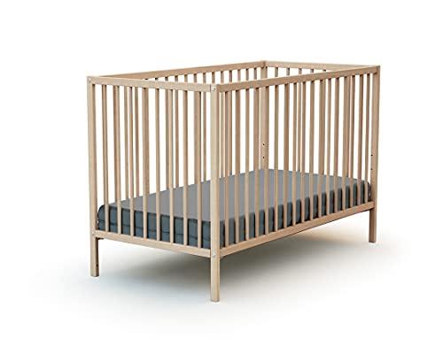 WEBABY - Lit bébé 60x120 Hêtre Brut