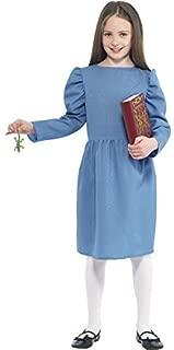 Smiffy's Big Girls' Roald Dahl Matilda Fancy Dres Costume Ren Party Outfit Age Medium (7-9 Years) Blue
